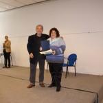 Màrius Serra m'entrega el premi: Finalista Narrativa Curta