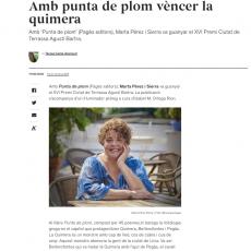 Teresa Costa-Gramunt parla de «Punta de plom»