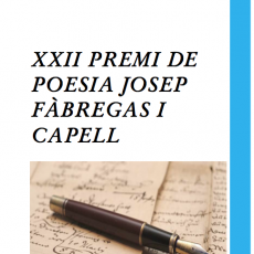 XXII Premi de Poesia Josep Fàbregas i Capell