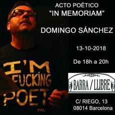 Homenatge a en Domingo Sánchez Castelló a Barra/Llibre